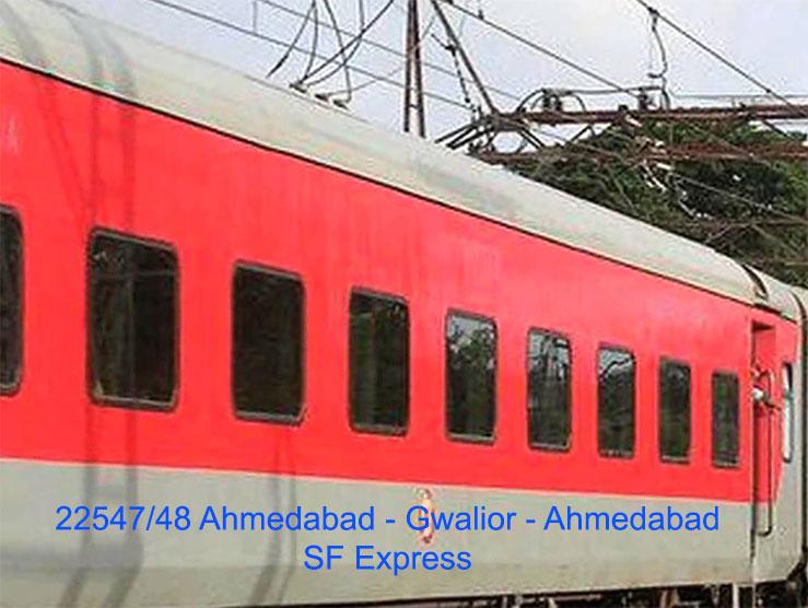 ग्वालियर-अहमदाबाद एक्सप्रेस कल से मुरैना में भी रुकेगी