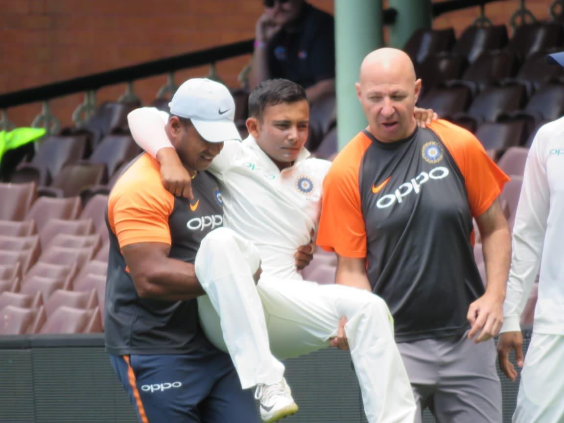 भारत को झटका, पृथ्वी शॉ पहले टेस्ट से बाहर