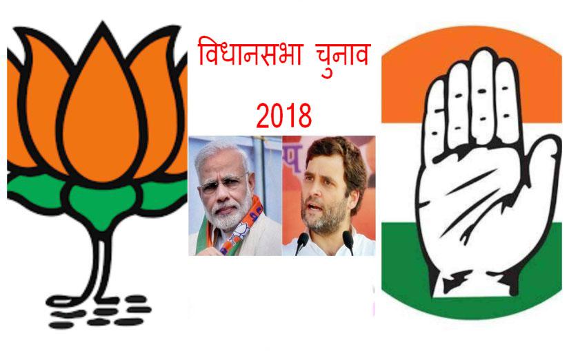 विधानसभा चुनाव 2018 - एग्जिट पोल के नतीजे