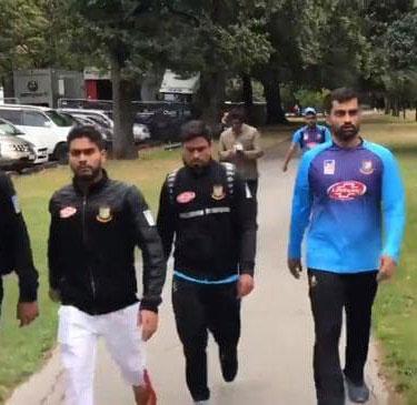 न्यूज़ीलैंड की मस्जिद में गोलीबारी, बांग्लादेश टीम सेफ