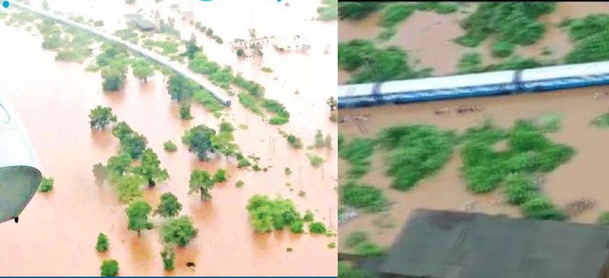 बाढ़ में फंसी महालक्ष्मी एक्सप्रेस ट्रेन