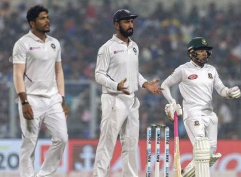 कोलकाता टेस्ट में भारत बांग्लादेश को पारी और 46 रन से हराया
